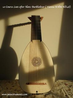 10 course renaissance lute based on Hans Burkholtzer, Alpine spruce top with Bog Oak fingerboard, the oak is 7000 years old.