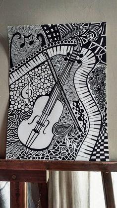 tattoo - mandala - art - design - line - henna - hand - back - sketch - doodle - girl - tat - tats - ink - inked - buddha - spirit - rose - symetric - etnic - inspired - design - sketch Doodle Art Designs, Easy Doodle Art, Doodle Art Drawing, Cool Art Drawings, Zentangle Drawings, Mandala Drawing, Art Drawings Sketches, Black Pen Drawing, Mandala Tattoo
