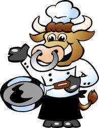 cutcaster-vector-801082084-Bull-Chef-Cook-holding-a-Pan.jpg (195×250)