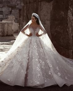 Luxurious Long Sleeve Wedding Dresses Ball Gown Flowers Crystal Wedding Dresses Item … – Famous Last Words Crystal Wedding Dresses, Sheer Wedding Dress, Luxury Wedding Dress, Long Wedding Dresses, Long Sleeve Wedding, Wedding Dress Sleeves, Princess Wedding Dresses, Bridal Dresses, Prom Dresses