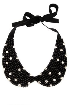 peter pan collar necklace beads bridal wedding by trendycollars, $19.90