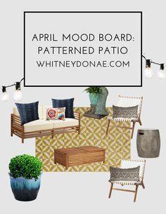 April Mood Boards: Boho Patio