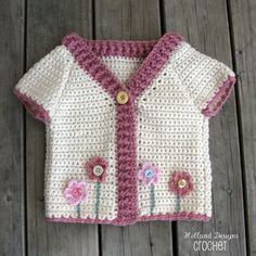 Download Now - CROCHET PATTERN Flower Garden Cardigan - Sizes 0-5 Years - Pattern PDF