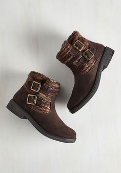 Terrain Attraction Boot. Canyons, caverns, and coves - oh my! #brown #modcloth