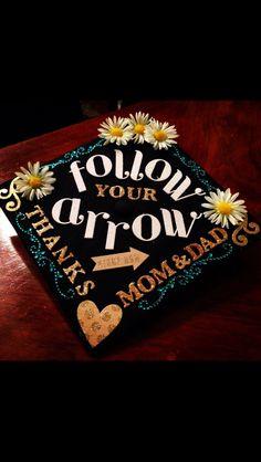 Graduation Cap- love this idea Graduation 2016, Graduation Cap Designs, Graduation Cap Decoration, Graduation Pictures, Graduation Caps, Graduation Ideas, Abi Motto, Grad Hat, Cap Decorations