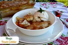 Mommy's Kitchen - Country Cooking & Family Friendly Recipes: Magic Peach Cobbler