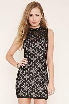 black lace bodycon dress forever 21 Naf Dresses