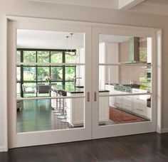 Over-Sized Interior Glass Doors +Crestbrook Kitchen Doors + Tatum Brown Custom Homes Küchen Design, Interior Design, Interior Doors, Smart Design, Design Ideas, Interior Sliding Glass Doors, Design Homes, Bakery Design, Diy Interior