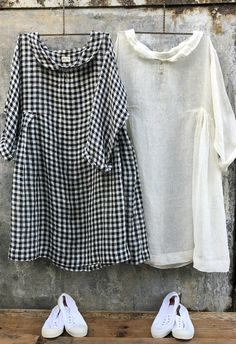 Black and White Linen Gingham Dress MegbyDesign