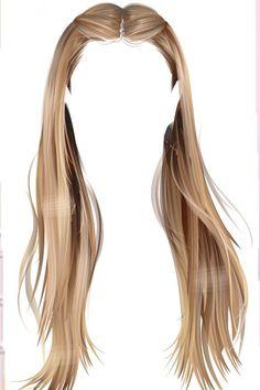 Girl Hair Drawing, Hear Style, Fashion Figure Drawing, Cute Kawaii Girl, Hair Illustration, Hair Png, Hair Reference, Anime Hair, How To Draw Hair