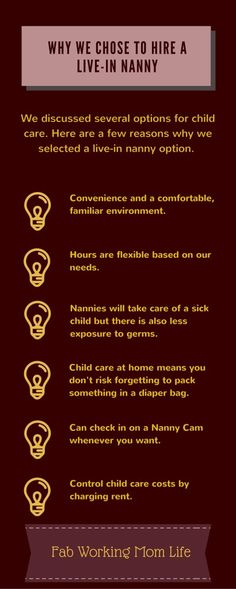 Child Care Options and why we chose a live-in nanny