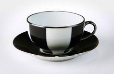 Limoges Cup/s Large Black Stripes (Platinum Edged)   T2 Tea