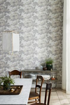 Raphael wallpaper by Sandberg as seen on decor8 #grey #repeat #wallpaper