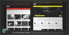 Download and review of Push - Business and Portfolio WordPress Theme, one of the best Themeforest Creatives themes