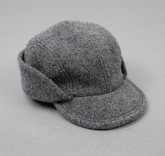 Cahors Hat, Grey Boiled Wool