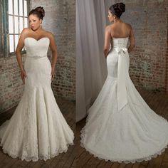 Strapless Sweetheart Mermaid Plus Size Bridal Dress (PS0032)