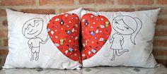 ana sinhana: Modo de fazer: almofadas com amor!