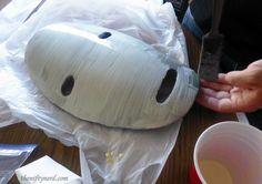 No Face Spirited Away mask costume tutorial (eva foam)