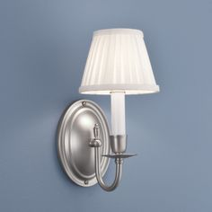 Norwell Lighting: Bristol 8115 Sconce shown in Brushed Nickel with Cream Shade
