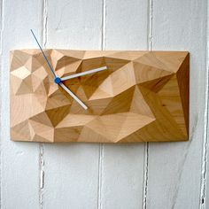 Block Clock 12x6 Maple  by Such + Such