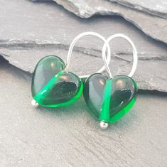 Birthstones in Glass - Cora Heart Hoop Earrings Coloured Glass, Birth Month, Months In A Year, Gemstone Colors, Birthstones, Heart Shapes, Hearts, Hoop Earrings, Pairs