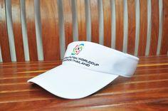หมวกไวเซอร์สีขาว รับผลิตหมวกขั้นต่ำ 100ใบ/แบบ/สี โทรสอบถามได้ที่ 087-712-1555 / 085-668-9991 #รับผลิตหมวก