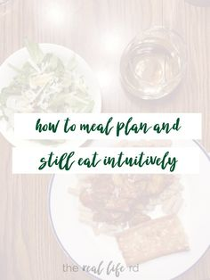 Intuitive Eating and Meal Planning | Eat Satisfying Foods All Week! By The Real Life RD #mealplan #health