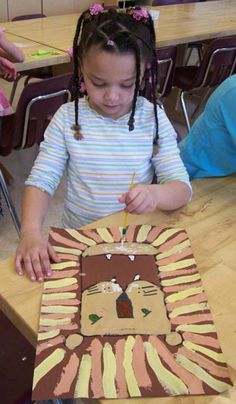 John Post - Elementary Art Painting Projects - Lion Paintings