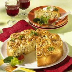 Käse-Schinken-Rosettenkuchen Rezept