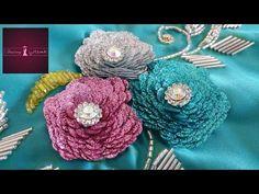 Tambour Embroidery, Beaded Embroidery, Embroidery Stitches, Hand Embroidery, Embroidery Designs, Sewing Hacks, Needlework, Crochet Earrings, Creations