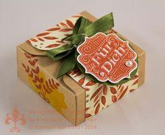 Stampin' Up! by First Hand Emotion: Herbstliche Box mit dem Envelope Punch Board und Herbstfarben