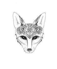 mandala fox - Google Search