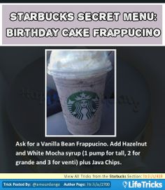Starbucks Secret Menu: Birthday Cake Frappuccino