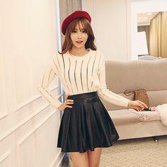 See Through Stripes Sweater - DABAGIRL