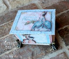 Amazing altered ATC Book Box by Rita using Faber-Castell and Gilded Lily #graphic45