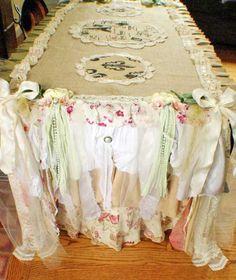 Table Cloth Runner, Burlap U0026 Lace Table Runner, Lace Table Cloth, Rustic  Wedding, Cake Table, Woodland Style, Shabby Chic, Farmhouse Decor   Burlap  Table ...