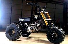 Mini Motorbike, Trike Motorcycle, Motorcycle Types, Honda Motorcycles, Custom Motorcycles, Custom Bikes, Drift Kart, Atv Motocross, Diy Go Kart