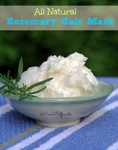 Easy DIY Rosemary Hair Mask for Dry Hair - Suburbia Unwrapped