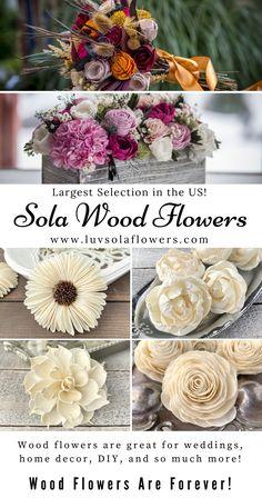 Sola Wood Flowers, Paper Flowers Diy, Fake Flowers, Flower Crafts, Diy Home Crafts, Crafts For Kids, Fake Flower Arrangements, Fall Decor, Diys