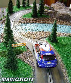 Slot car, Slot car scenery, HOW-TO, Rally Scenery Track Piece