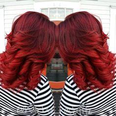 Vibrant fierce red hair created using redken chromatics and pravana vivids! Obsessed Hair by Rachel Fife @ Sara Fraraccio Salon