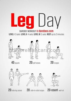 Leg Day - Darebee Workout store.nutritional... #diet #dieting #lowcalories #dietplan #excercise #diabetic #diabetes #slimming #weightloss #loseweight #loseweightfast