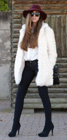 faux fur coat. #taste