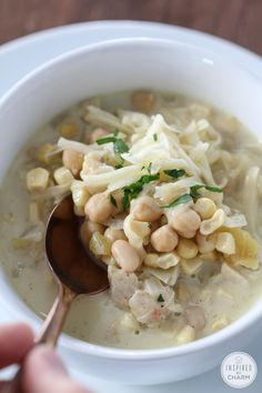 White Chicken Chili | I'm not a big fan of soup, but I could eat the whole batch of this recipe. It's made in a crock-pot, so it's so easy too!