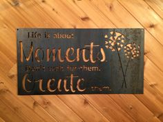 Rustic Metal Sign - Quote Sign - Metal Wall Art - Fixer Upper Sign - Farmhouse sign - Farmhouse Decor - Life is About Moments Always wanted to learn to knit, nonetheless undecided the place to begin? That Complete Beginner Knitting String is exac. Rustic Farmhouse Decor, Farmhouse Style Decorating, Farmhouse Signs, Custom Metal Signs, Custom Wall, Metal Walls, Metal Wall Art, Monogram Signs, Luanna