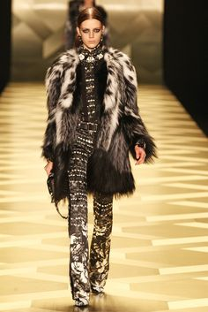 Thank you for finally ditching the animal prints...Roberto Cavalli RTW Fall 2013 -