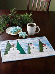 Happy Snowmen Place Mat by epatternscentral.com