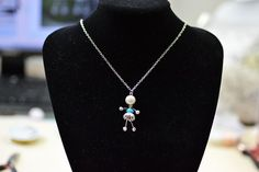 Wire Wrapped Jewelry Ideas-How to Make Adorable Wire Wrapped Silver Fairy Pendant Necklace final