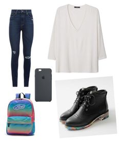 """⚫️"" by yoliredolat on Polyvore featuring moda, JY Shoes, Paige Denim, MANGO y Vans"