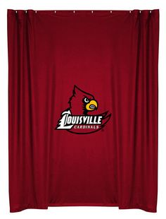 Louisville Cardinals NCAA Sports Coverage Team Color Shower Curtain #SportsCoverage #LockerRoom